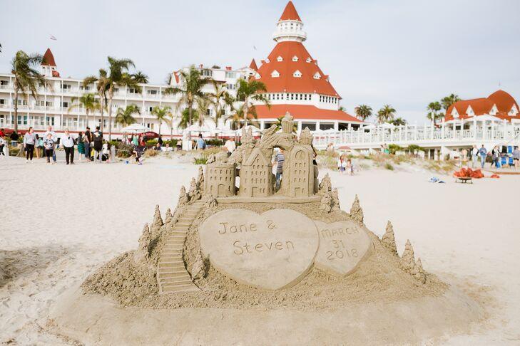 Personalized Wedding Sand Castle