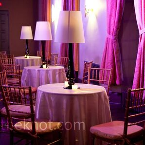 Purple Cocktail Hour Decor