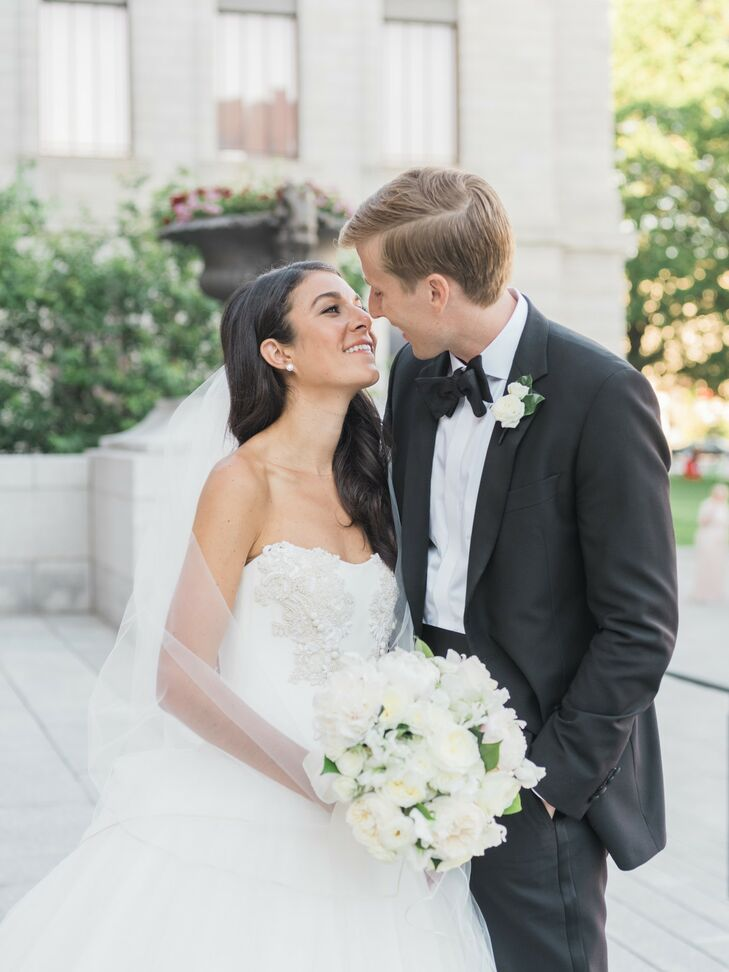 Couple Portraits for Boston Wedding at the Museum of Fine Arts