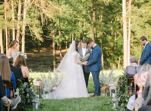 """Jordan Lee and Wayne Lee had a whimsical, romantic backyard wedding that was truly inspired by family. """"My Nana was always one of the most important p"""