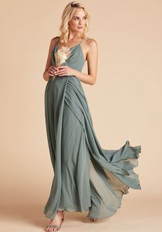 Birdy Grey Kaia Dress in Sea Glass V-Neck Bridesmaid Dress