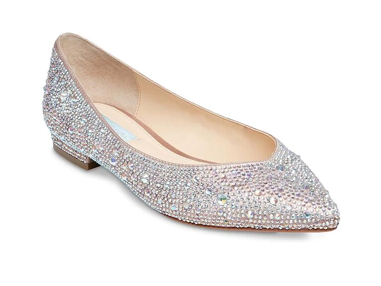 dsw jeweled mother of the groom flat with pointed toe