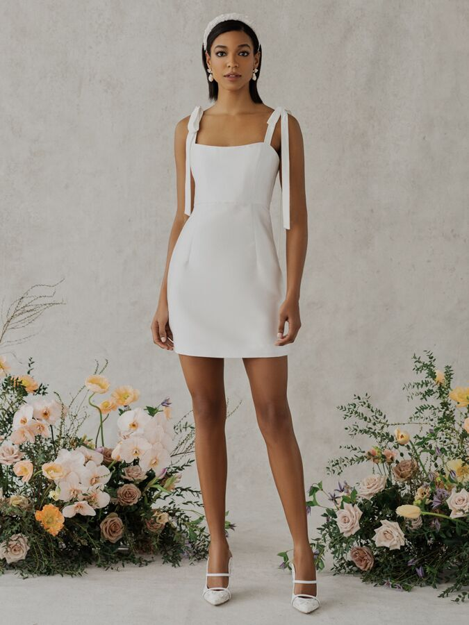 Alexandra Grecco Poppy mini dress with square neckline