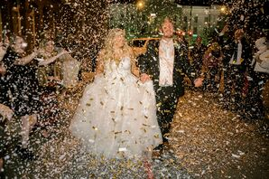 Confetti Wedding Exit at The Faulkner in Jackson, Mississippi