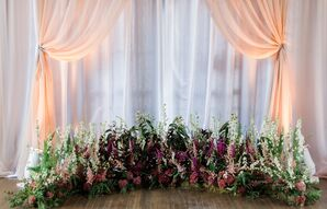 Astilbe and Wildflower Installation at Altar