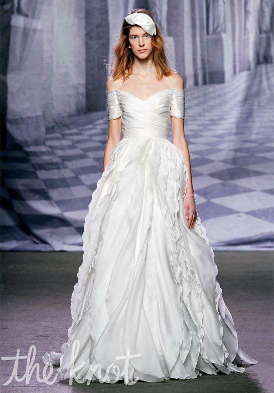 Monique Lhuillier Winter Wedding Dress photo