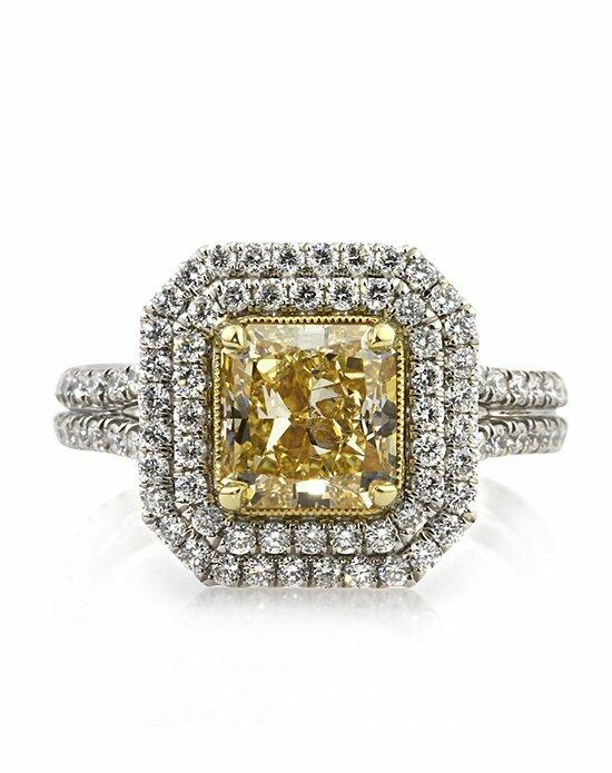 Mark Broumand 3.26ct Fancy Yellow Radiant Cut Diamond Engagement Ring Engagement Ring photo