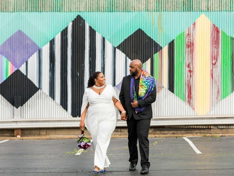 Modern hip-hop wedding at Slate Studio in Pittsburgh, Pennsylvania
