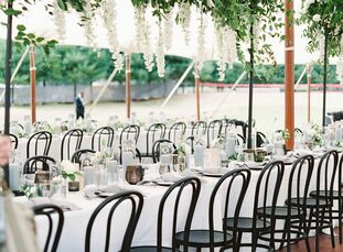 For their wedding on Maryland's Eastern Shore, Adrienne and Matt wanted to combine modern Italian summer vibes, as an homage to Adrienne's heritage, w