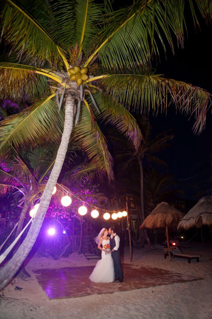 Beach Dance Floor in Tulum, Mexico
