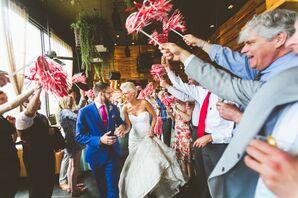 Whimsical Shaker Brunch Wedding Exit