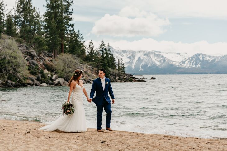 Bohemian Couple at Round Hill Pines Beach in Zephyr Cove, Nevada