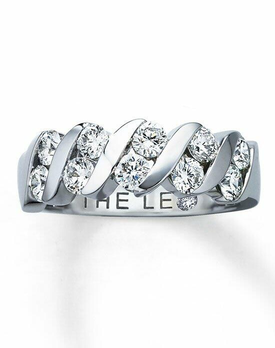 The Leo Diamond Diamond Anniversary Ring 1 ct tw Round-Cut 14K White Gold-40936003 Wedding Ring photo