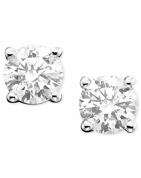 Macy's Fine Jewelry Diamond Earrings, 14k White Gold Diamond Studs (1-1/4 ct. t.w.) Wedding Earrings photo