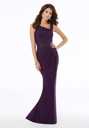 MGNY 72132 Purple,Black Mother Of The Bride Dress