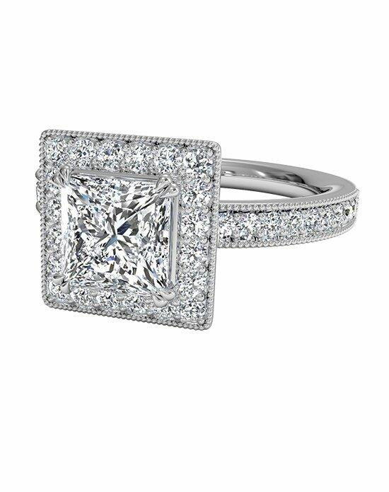 Ritani Princess Cut Vintage Halo Diamond Engagement Ring in 18kt White Gold (0.40 CTW) Engagement Ring photo