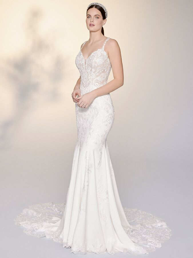 Justin Alexander Signature low back fit-and-flare wedding dress