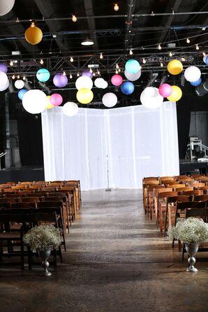 Vibrant Paper Lanterns Over Concert Venue Ceremony