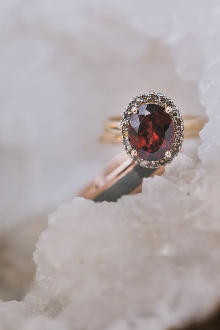 Vintage Ruby and Gold Engagement Ring