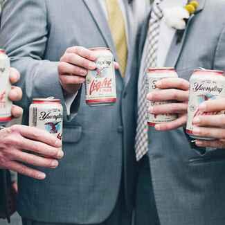 Groomsmen with beers