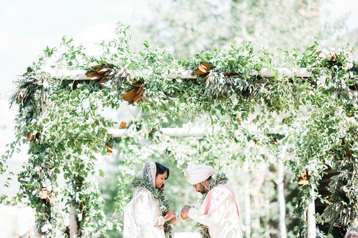 Vows Under Lush Greenery at the Ritz-Carlton Bachelor Gulch in Avon, Colorado
