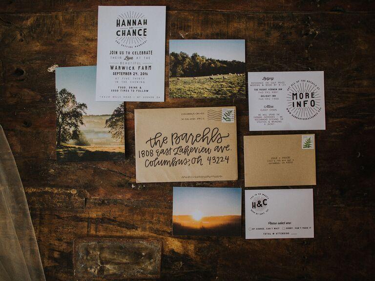 Fall wedding ideas scenic stationery