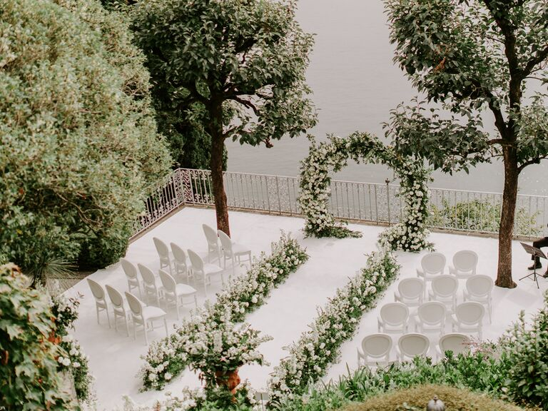 monochromatic wedding all white wedding italy