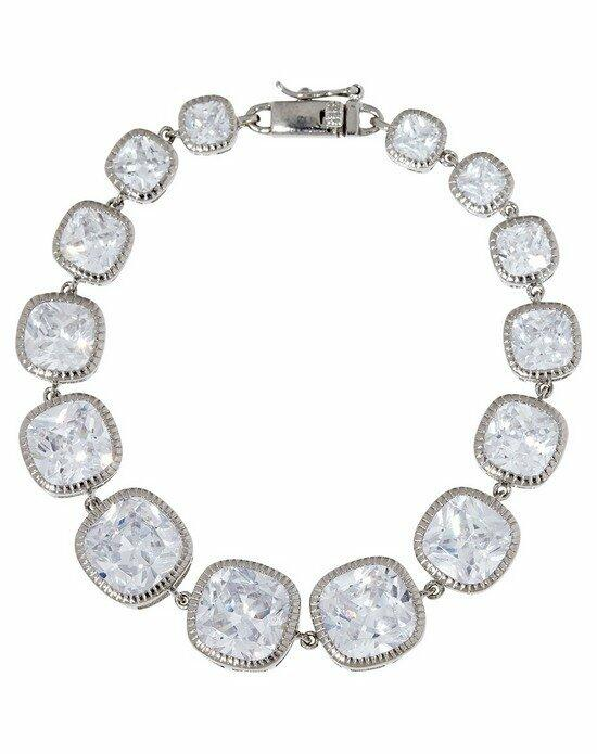 Thomas Laine Lucille Cushion Cut Bracelet - Silver Wedding Bracelets photo