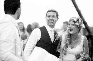 Glamorous Beaded Crystal Bridal Sash