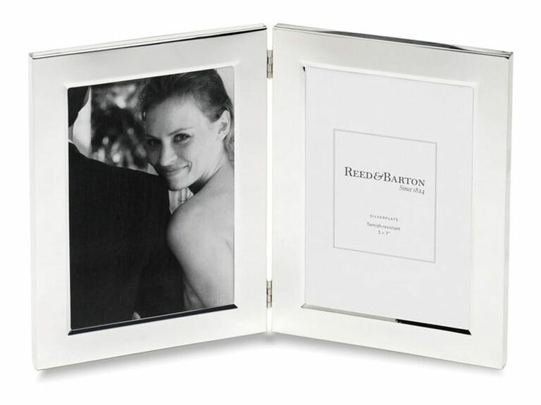 Silver double-frame wedding picture frame