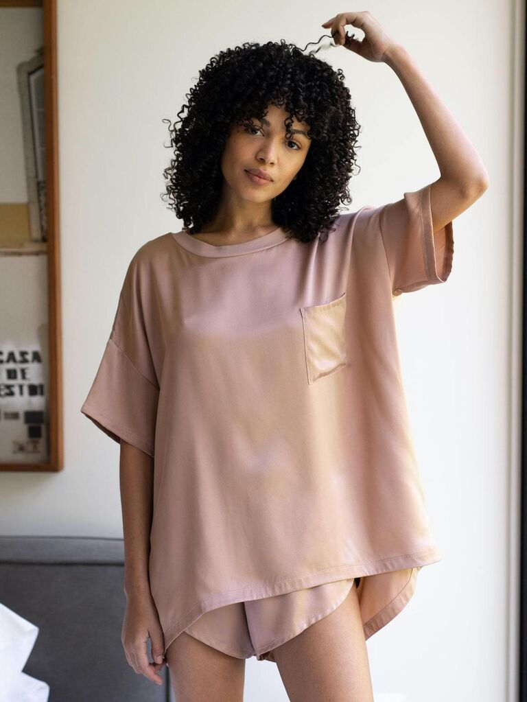 Silk pajamas bridal shower gift idea
