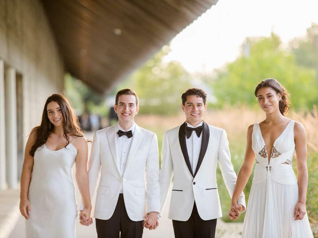 The wedding men at play