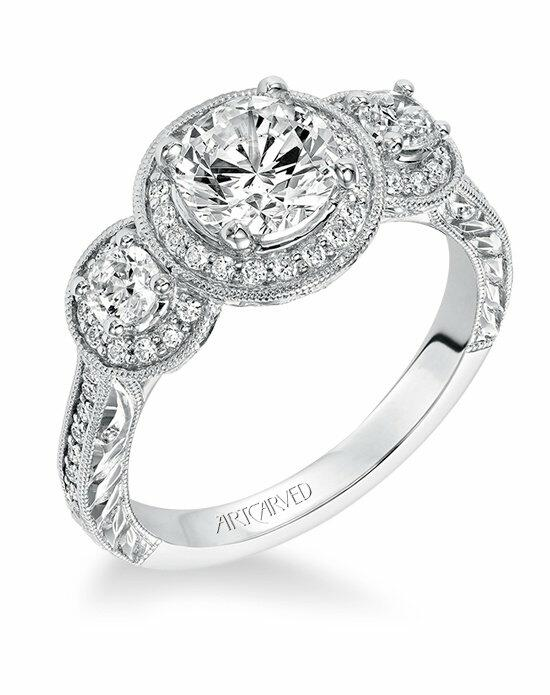 ArtCarved 31-V553ERW Engagement Ring photo