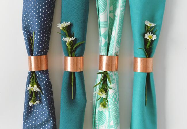 DIY Copper Pipe Napkin Rings
