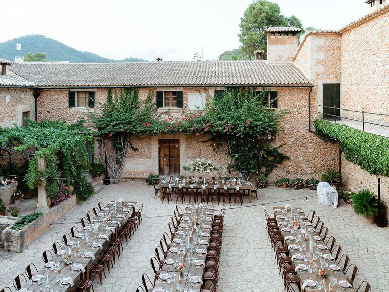 outdoor wedding venues spainish castle