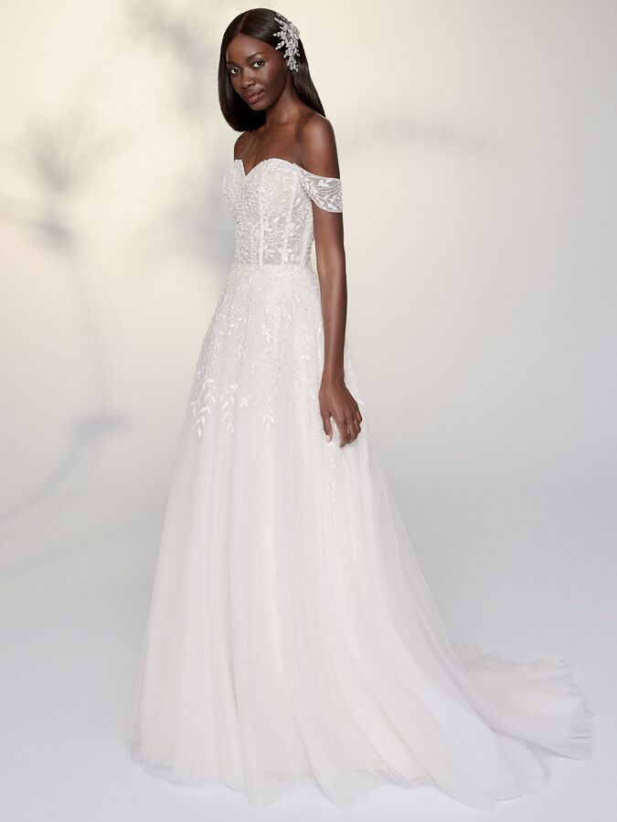 Justin Alexander Signature tulle A-line ball gown