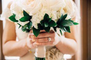 Pale Pink Wedding Manicure