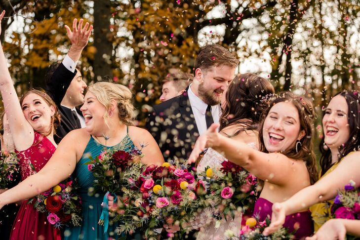"""For Amanda and Stephen's Ohio wedding at the Toledo Country Club, a rich color palette of jewel tones inspired much of the day. """"Our main inspiration"""