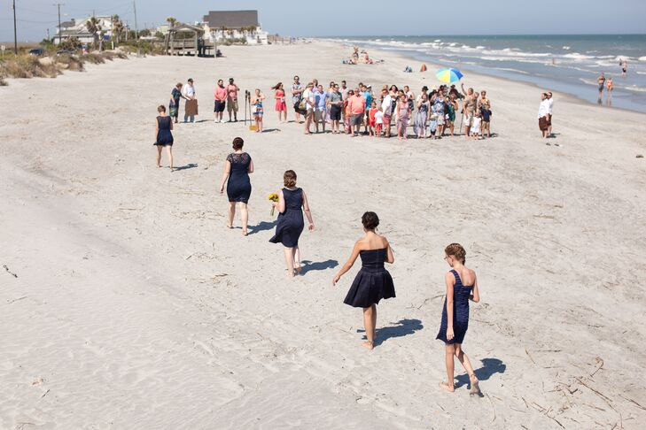 """""""I was sold on having our wedding at Folly Beach as soon as we arrived,"""" says Ashley. """"The people, food and of course beaches were amazing!"""""""