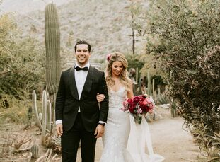 """VirginiaBeazley and Daniel Sullivan's wedding had two overarching themes: travel and nature. """"I fancy myself a 'plant lady,' and Daniel always makes"""
