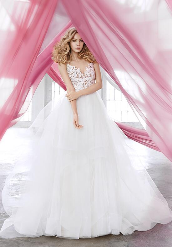 Blush by hayley paige 1600 halo wedding dress the knot for Hayley paige wedding dress prices