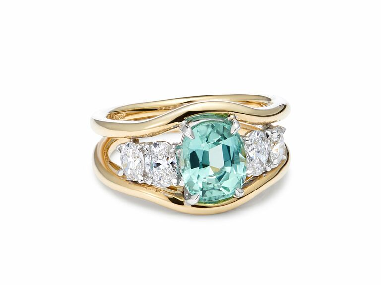 Minka Jewels blue engagement ring
