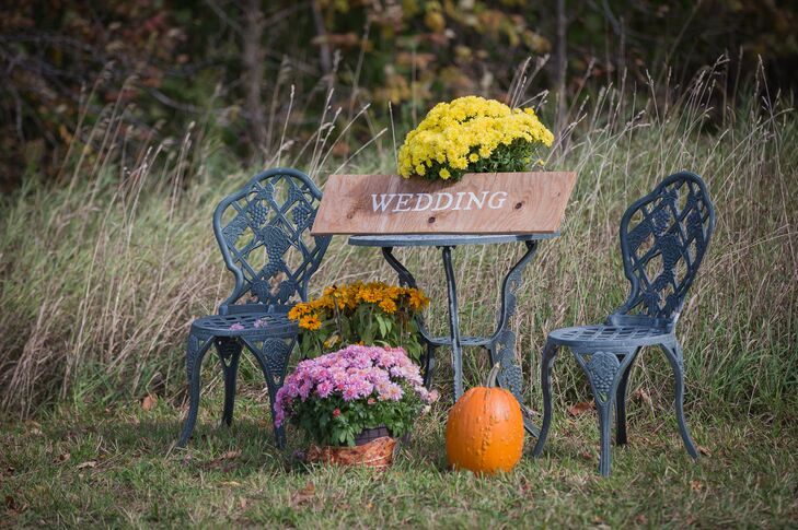 Vintage Furniture and Rustic 'Wedding' Sign