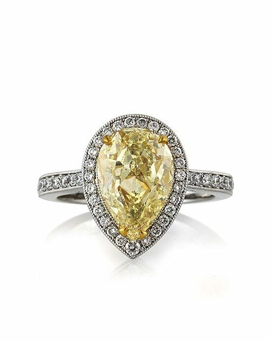 Mark Broumand 3.58ct Fancy Light Yellow Pear Shaped Diamond Engagement Anniversary Ring Engagement Ring photo