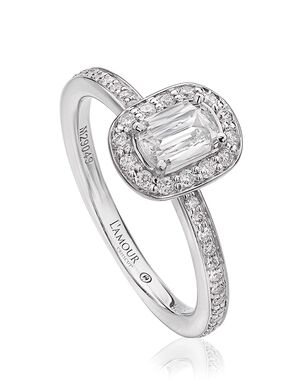 Christopher Designs Classic Emerald, Oval Cut Engagement Ring