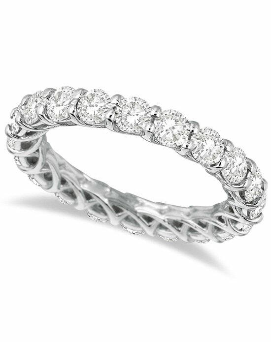 Allurez - Customized Rings Luxury Diamond Eternity Anniversary Ring Band 14k White Gold (3.50ct) Wedding Ring photo