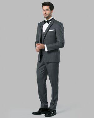 Menguin Charcoal Notch Lapel Tuxedo Gray Tuxedo