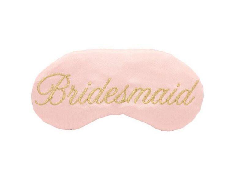 Bridesmaid sleep mask inexpensive gift idea