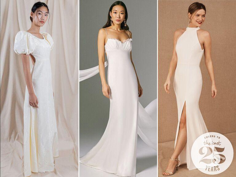 Xu hướng váy cưới thập niên 90 Váy cưới màu trắng