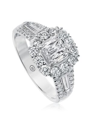 Christopher Designs Glamorous Cushion Cut Engagement Ring